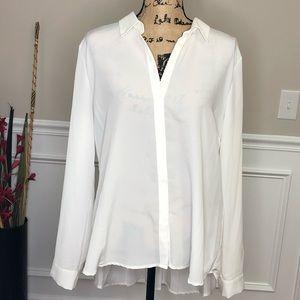 XL 41 Hawthorn White button up blouse